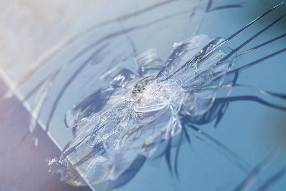 Dommages baie vitrée cassée
