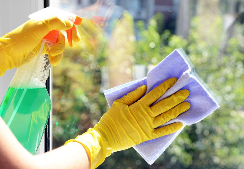 entretien et nettoyage baie vitrée